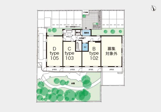 (シニア限定)ヘーベルVillage北浦和公園配置図