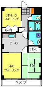 シャンドフルール4階Fの間取り画像