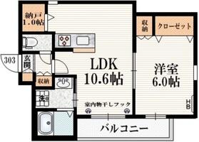 飛田給駅 徒歩4分3階Fの間取り画像