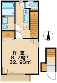 ドエル672階Fの間取り画像