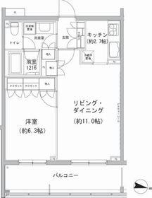 石川台駅 徒歩8分2階Fの間取り画像