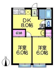 シティハイム ニューマロン11階Fの間取り画像