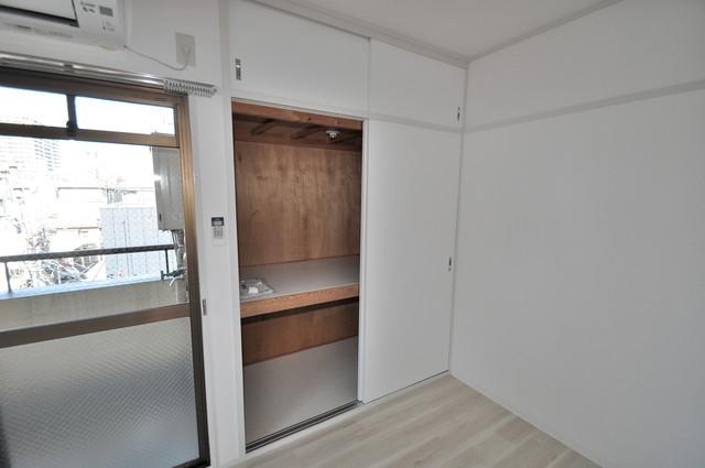 ロータリープロピオ もちろん収納スペースも確保。いたれりつくせりのお部屋です。