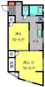 土屋ビル3階Fの間取り画像