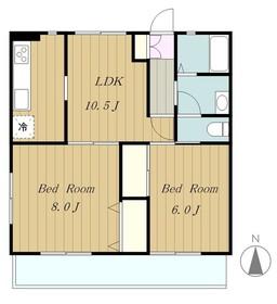 AIKAWAマンション3階Fの間取り画像