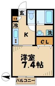 サクシードゥ2階Fの間取り画像