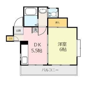 メゾンドYアンドY4階Fの間取り画像