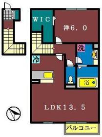 エクセル2階Fの間取り画像