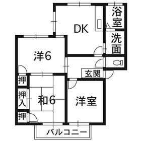 エミナンス戸坂2階Fの間取り画像
