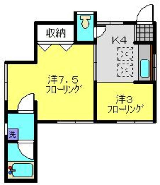 コーポ金井間取図