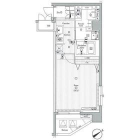 ジーコンフォートウエスト新横浜5階Fの間取り画像