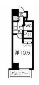スパシエ・エル新横浜7階Fの間取り画像
