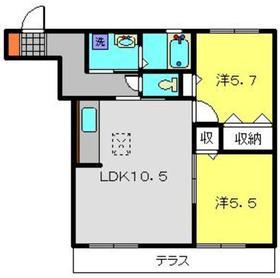 シャトージーバム1階Fの間取り画像