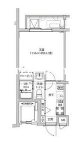 LUMEED飯田橋3階Fの間取り画像