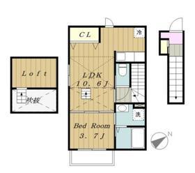 フラン コリーヌ2階Fの間取り画像