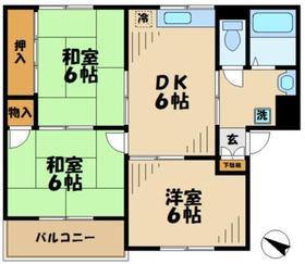 シャトーリバーサイド2階Fの間取り画像