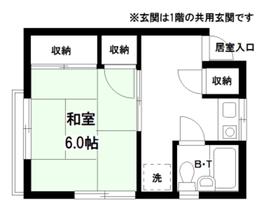 徳山ハイツⅠ2階Fの間取り画像