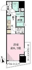 パークリュクス新宿御苑前mono9階Fの間取り画像