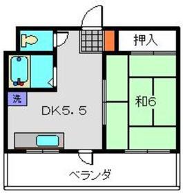 カサベルダ三ツ境3階Fの間取り画像