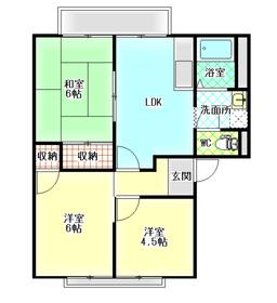 ベルテック須屋Ⅱ A棟2階Fの間取り画像