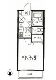 カルペディエム横浜Ⅱ2階Fの間取り画像