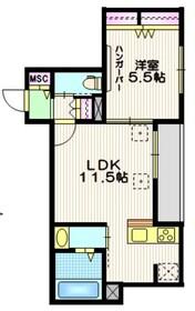 コンフォルタ 駒沢2階Fの間取り画像