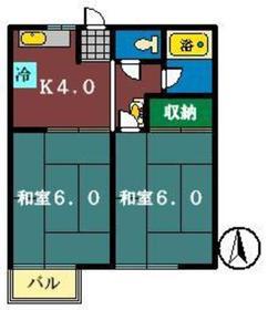 コーポミユキ2階Fの間取り画像