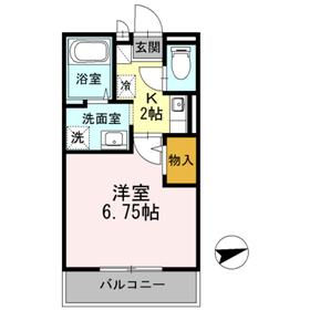 フローラハイム1階Fの間取り画像