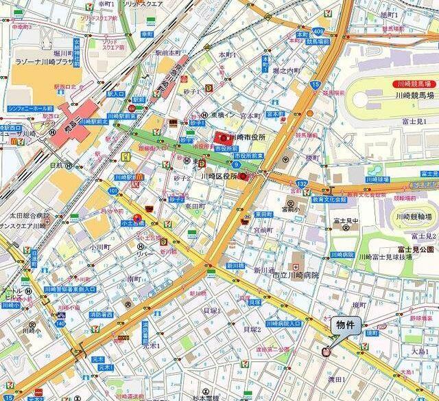 川崎駅 徒歩15分案内図
