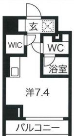 クラリッサ川崎グランデ9階Fの間取り画像