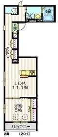 アイティム南麻布2階Fの間取り画像