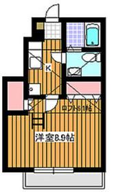 ゼファーコート丸山台21階Fの間取り画像
