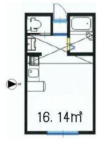 コラーレ二俣川2階Fの間取り画像