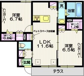 K Piatto1階Fの間取り画像