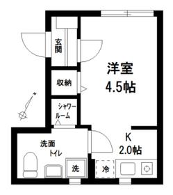 THE ROOM'S東十条3階Fの間取り画像