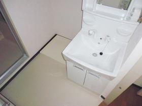 嬉しい独立洗面台付きです