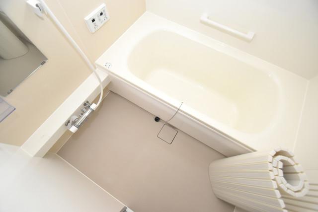 タケハウス5 広めのお風呂は一日の疲れを癒してくれます。