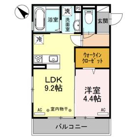 フェリーチェ上福岡2階Fの間取り画像