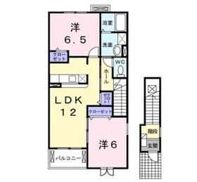 カトライア2階Fの間取り画像