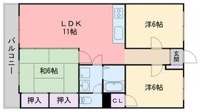 エバーライフ新室見7階Fの間取り画像