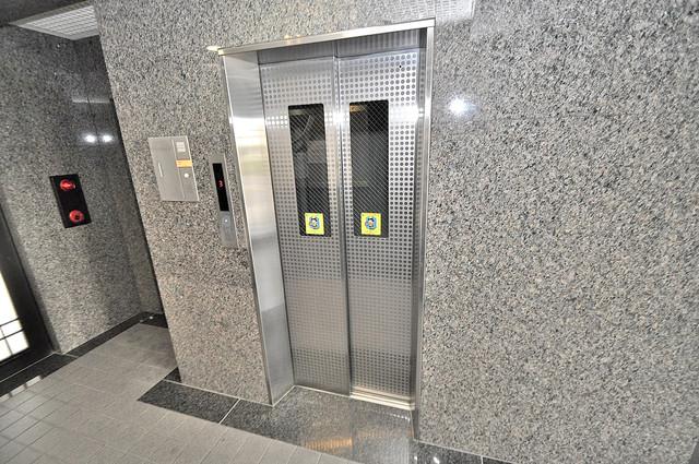 ファースト・ネット エレベーター付き。これで重たい荷物があっても安心ですね。