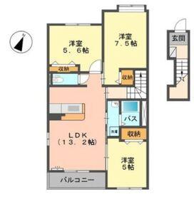 TERRACE HOUSE2階Fの間取り画像
