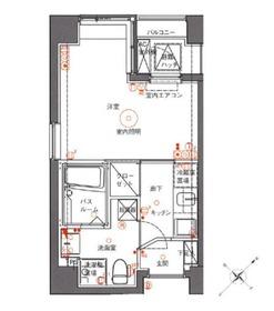 アランシア鶴見3階Fの間取り画像