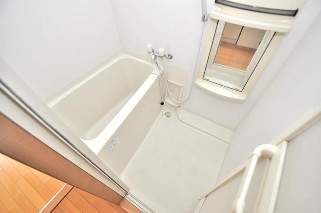グランデージ長田東 単身さんにちょうどいいサイズのバスルーム。