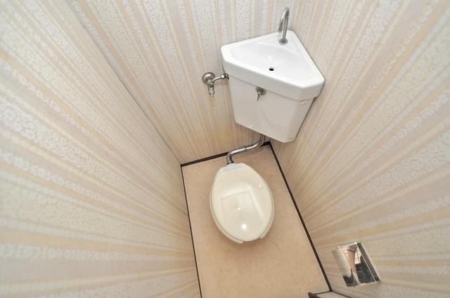 坂下マンション スタンダードなトイレは清潔感があって、リラックス出来ます。