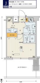 スカイコート品川パークサイドⅡ9階Fの間取り画像