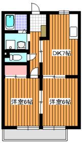 ファーストインヨツバ2階Fの間取り画像