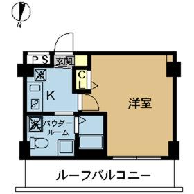 スカイコート東京ベイ東雲5階Fの間取り画像