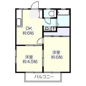 ハイツ松野2階Fの間取り画像