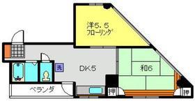 リーベオリサカ4階Fの間取り画像